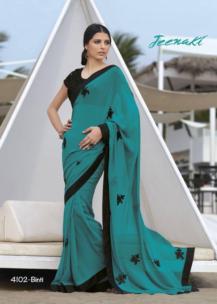Rama Georgette Party Wear Saree With Raw Thread Work Net Blouse at Lalgulal.com To Order :- http://goo.gl/l68gj0 To Order you Call or Whatsapp us on +91-95121-50402 COD & Free Shipping Available only in India