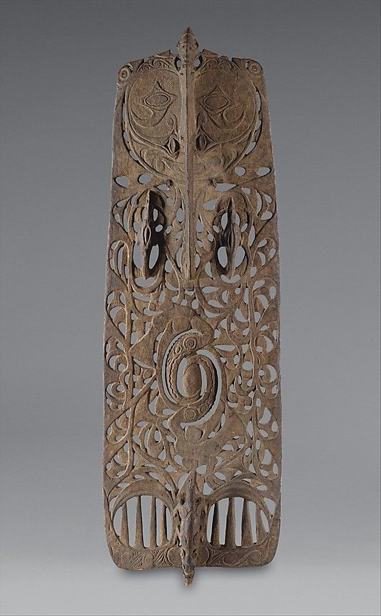 Ceremonial Board (Malu), 19th century, Papua New Guinea, Middle Sepik River, Sawos people, Wood