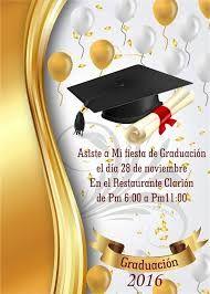 Resultado de imagen para invitaciones sencillas de graduación