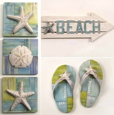 beach decor wall art ties my blues and green together - Beach Theme Decor