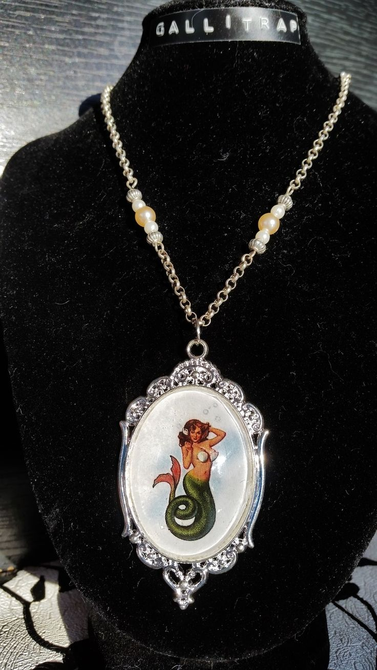 Collier Tattoo Mermaid silver de Gallitrap