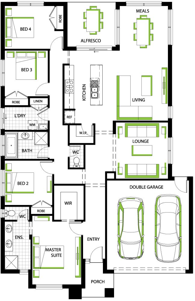 Fairview 24 floorplan - Carlisle Homes