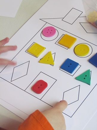 shapes and paper houses for preschool