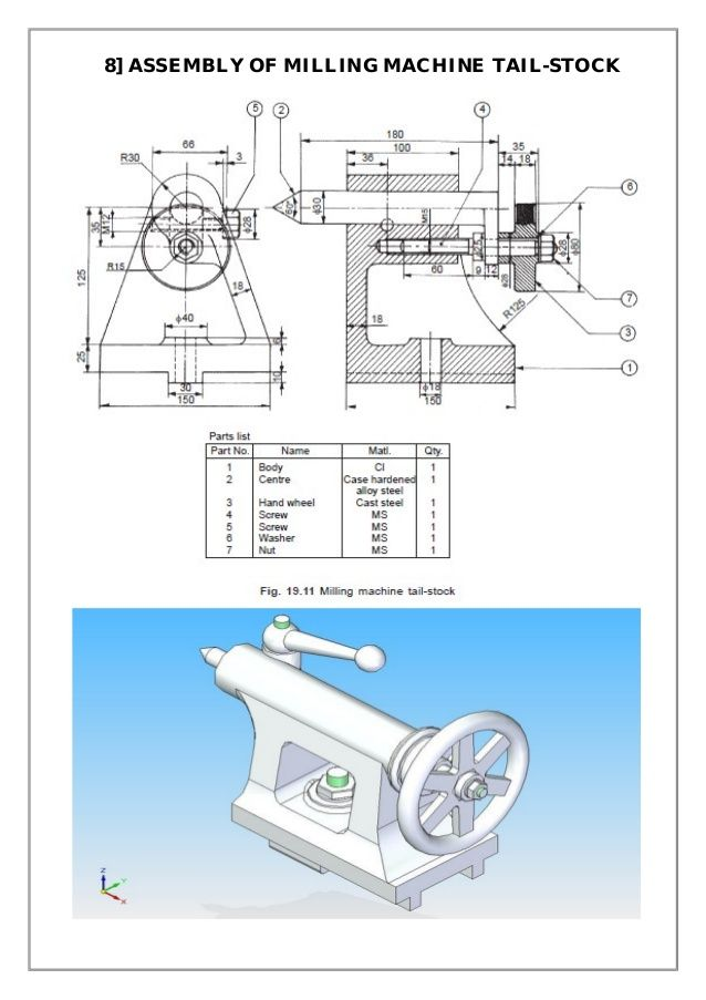 Assembly and Details machine drawing pdf | Technique