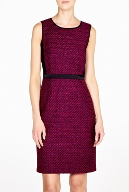 Luxe Ponte Panelled Sleeveless Dress by DKNY