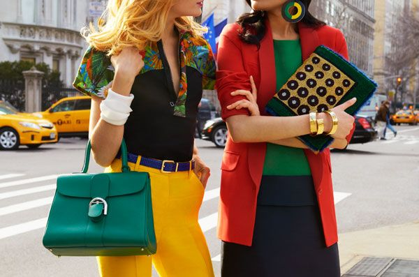 We love the mix of colour used here. Tommy Ton for Harper's Bazaar
