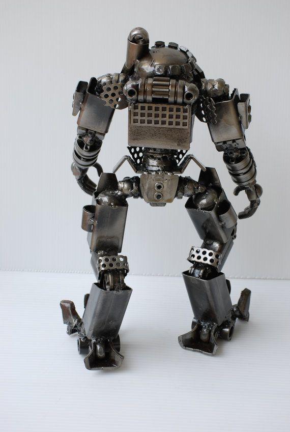 ESCULTURA de METAL Atlas tipo A Titanfall modelo reciclado