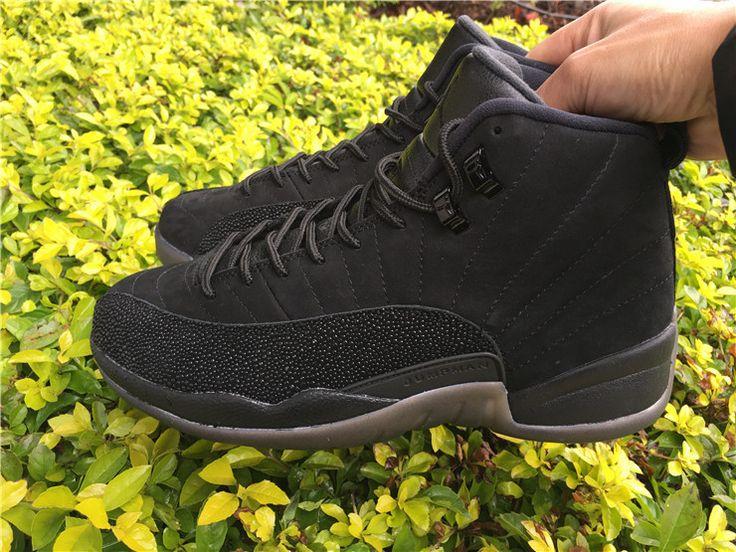 Nike Air Jordan 12 OVO Mens Basketball Shoes All Black
