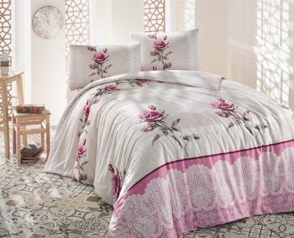 Купить постельное белье RANFORCE ALMILA бежевое 50х70 евро от производителя Altinbasak (Турция)