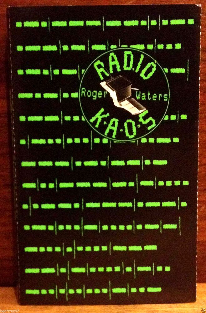 Pink Floyd Roger Waters Radio Kaos Cassette 1987 Orig. Lyric Fold Out Tested EX #ProgressiveArtRock