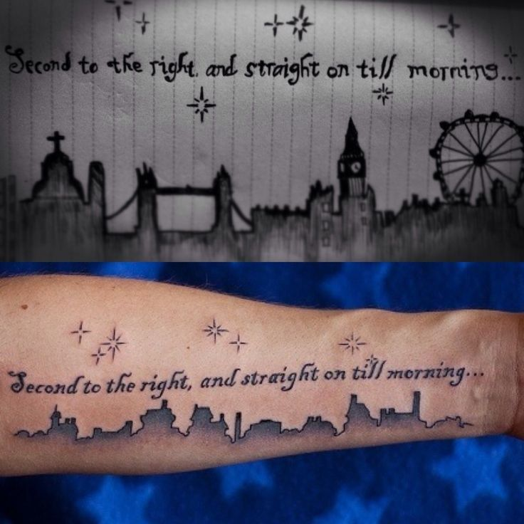 Forearm Tattoo Quotes Inspired By Peter Pan