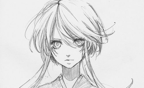 Drawing manga - love the hairstyle!