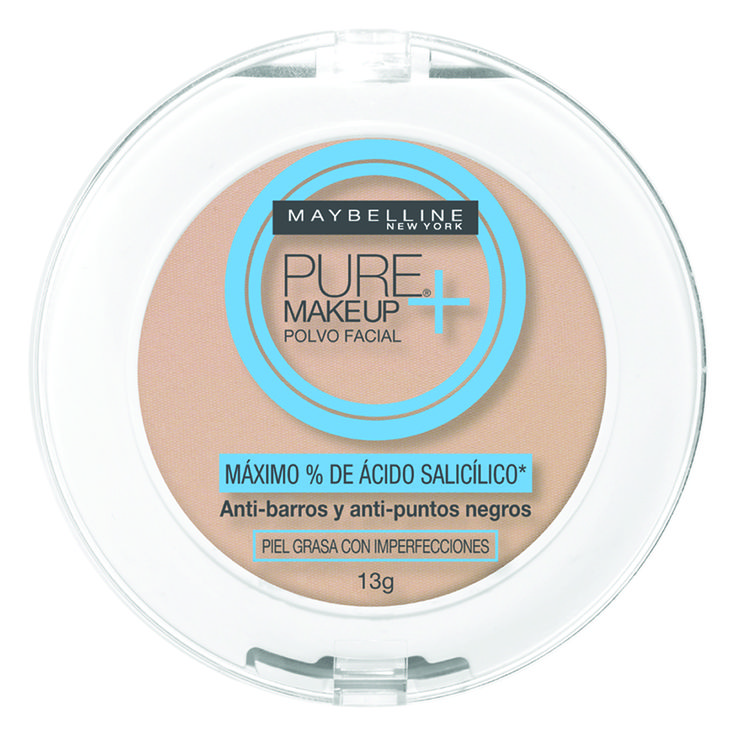 Maybelline Pure Makeup Plus Polvo Facial > Para pieles acnéicas/grasas, genial. Suave y natural. | Maybelline Pure Makeup Plus Pressed Powder > Great for acne-prone/oily skin. Soft and natural.