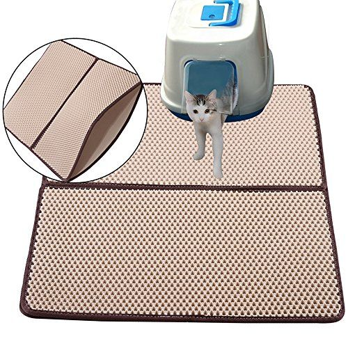 Cat Litter Mat, Double-Layer Honeycomb Extra Large Size ( 30 x 23in ) Detachable Kitty Litter Mat by Snagle Paw, Waterproof and Non-slip for Cats Litter Trapping