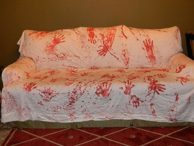 decoracao festa zumbi:Halloween Bloody Handprint