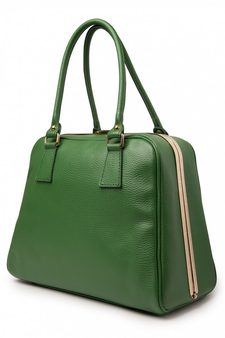 VaVa Vintage - 60s Chic Suitcase Handbag in Green genuine leather