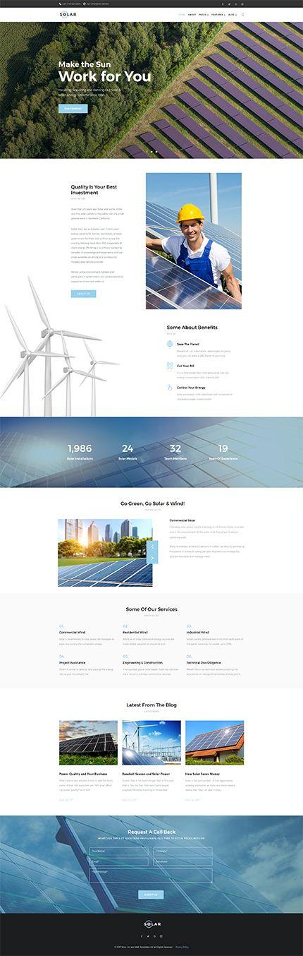 Solar - #alternative  #energy  Company #wordpress  #theme