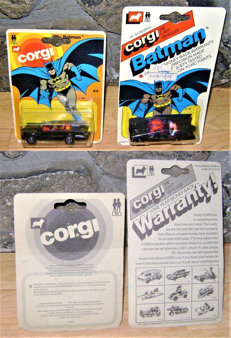 Vintage Manufacture 180507: Vintage Corgi Junior Batman 1966 Batmobile Toy Lot X2 Mosc Husky -> BUY IT NOW ONLY: $149 on eBay!