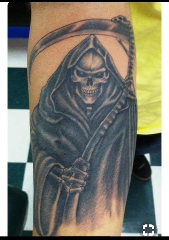 Muerte 1 Craneos Tattoo Santa Muerte Tatuajes De Santa Muerte