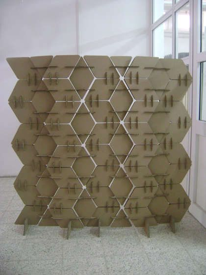 Sharing Space? • DIY Room Dividers • Ideas & Tutorials! • This room divider is made entirely out of card board!