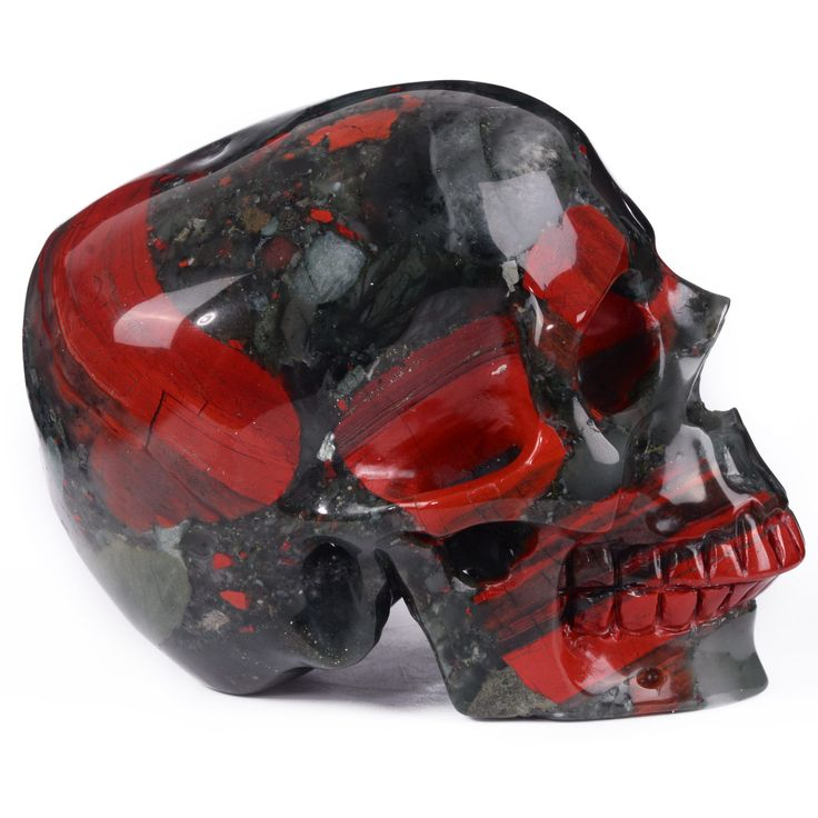 new Arrival---New blood jasper carved skull carving,top quality