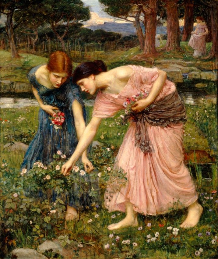 Gather ye rosebuds while ye may,  Old Time is still a-flying:  And this same flower that smiles to-day  To-morrow will be dying.     J.W. Waterhouse:Gather ye rosebuds  (by Robert Herrick)   (to remind that #beauty and #youth is #fleeting...)