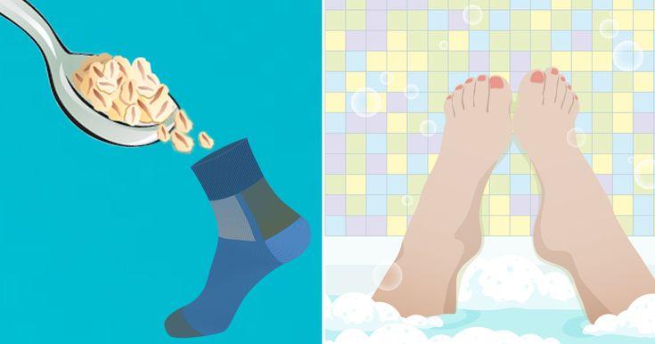 Derfor bør alle prøve at fylde en strømpe med havregryn og tage et bad