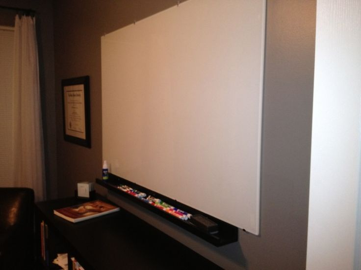 """How to turn an ikea glass table top into a white board - MUCH cheaper than tempered glass ones sold as whiteboards already!      TORSBY tbl top 53 1/8x33 1/2"""" glass white  article number 90154644  $79"""
