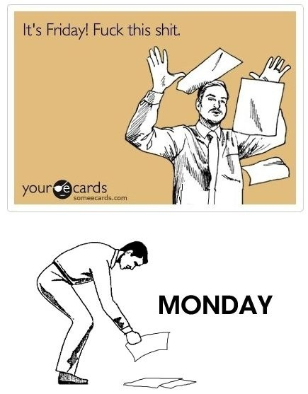 why mondays are the worst.