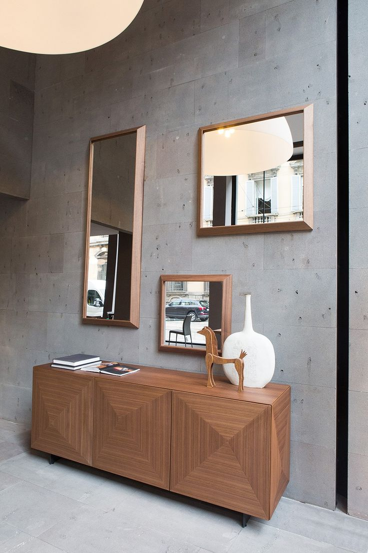 Mirrors QUADRO: mirrors with frame in solid wood american walnut.