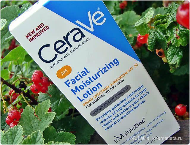 CeraVe Facial Moisturizing Lotion AM. Утренний Увлажняющий лосьон для лица для нормальной и сухой кожи, SPF 30