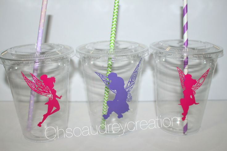 Disney party favors//Tinker bell party cups//Tinkerbell party, Tinkerbell party cups, tinkerbell party supply, custom party cups, set of 12 by ohsoaudreycreations on Etsy https://www.etsy.com/listing/255027245/disney-party-favorstinker-bell-party