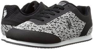 U.S. Polo Assn Black & White Fashion Sneakers For Women