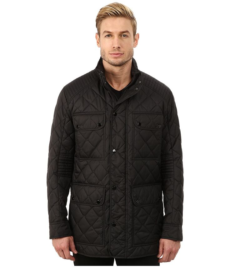 MARC NEW YORK BY ANDREW MARC MARC NEW YORK BY ANDREW MARC - ESSEX POLY FILL QUILTED FOUR-POCKET JACKET (BLACK) MEN'S COAT. #marcnewyorkbyandrewmarc #cloth #