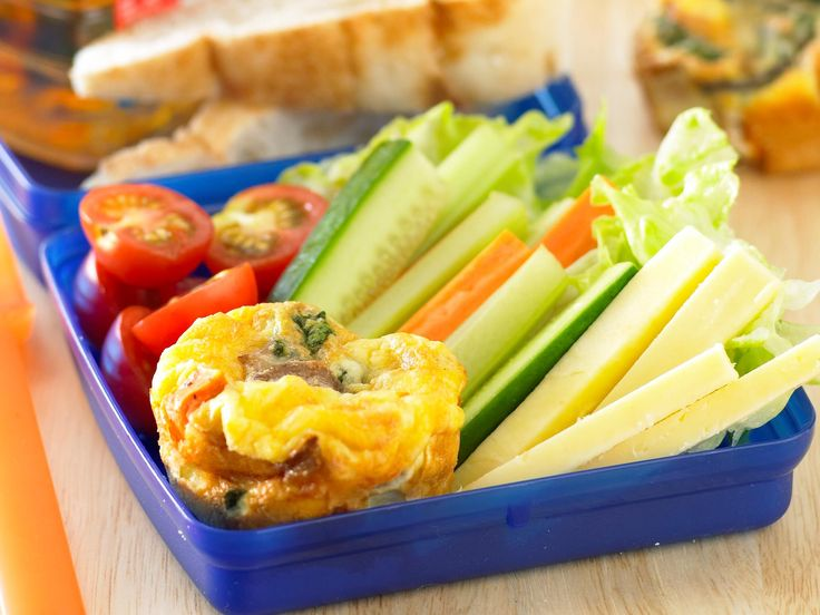 Add a selection of raw vegetable sticks to these bite-sized frittatas and the school lunchbox never looked or tasted so good.