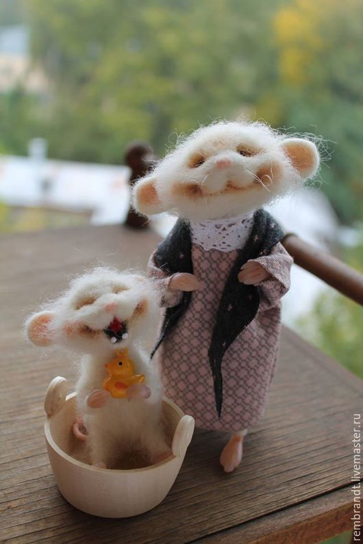 Toy animals, handmade. Fair Masters - handmade. Buy Mouse washes sun smiles). Handmade. White