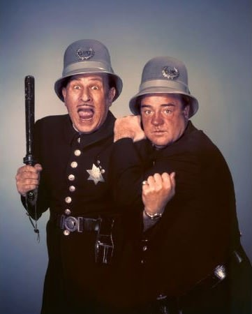 """Abbott and Costello Meet the Keystone Kops"" Bud Abbott, Lou Costello 1955 Universal"
