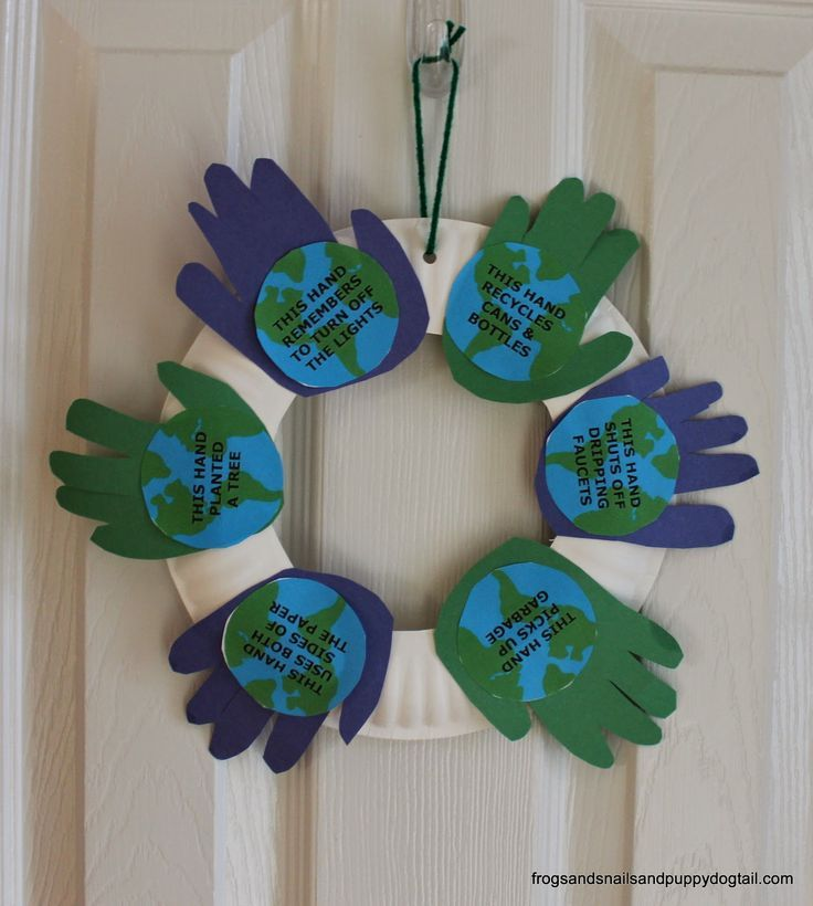 Handprint Wreath Craft