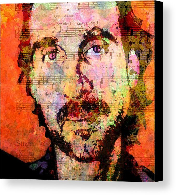 Genesis Canvas Print featuring the painting Mike Rutherford by Otis Porritt