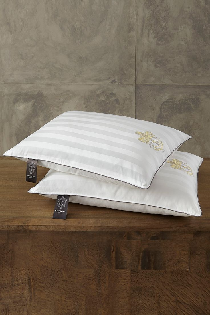 Rio Home BEHRENS England 1000 Thread Count Luxury Sleep Pillow - Set of 2 - White