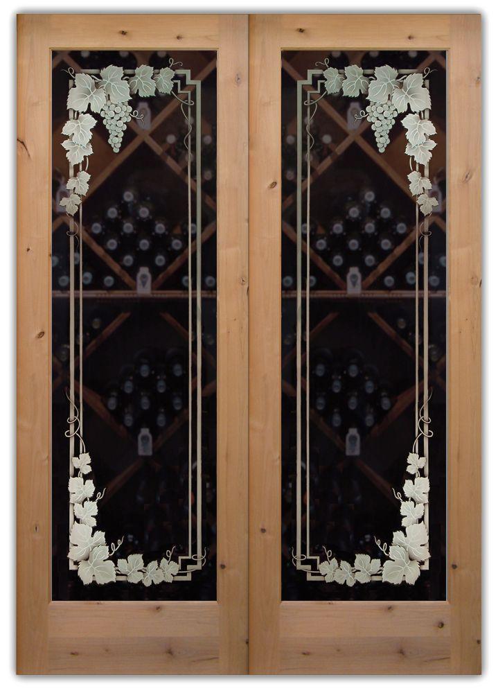 Wine Cellar Doors Vineyard Grapes 3d Garland Pair Wine