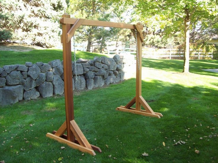 54 best images about how to build n a frame swing on for Build porch swing plans