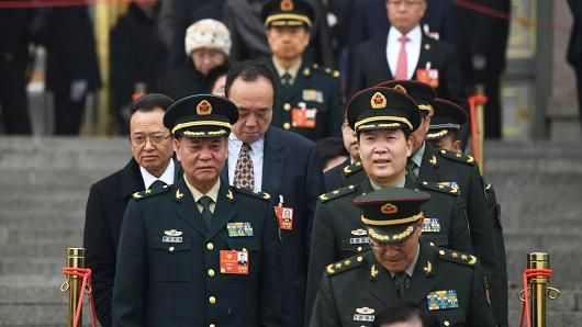 China defends hike in military budget as proportionate and low - March 6, 2018.    China's increase in military spending for 2018 — the biggest rise in three years — was proportionate and low, and Beijing had not been goaded into an arms race with the United States, state media said on Tuesday.