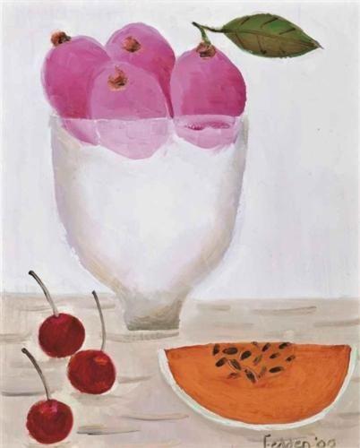 Three Cherries - Mary Fedden, 2000