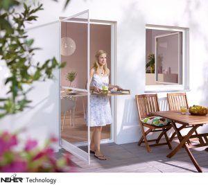 Insektenschutz passend zu jeder Hausfassade| Insektenschutz Türe | Pendel Türe