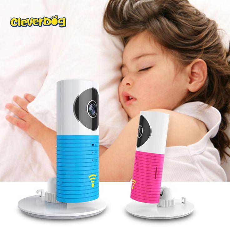 Cleverdog baby sleeping monitor con cámara wifi inalámbrico bebé monitor de visión nocturna de seguridad ip cámara de vídeo de portero electrónico