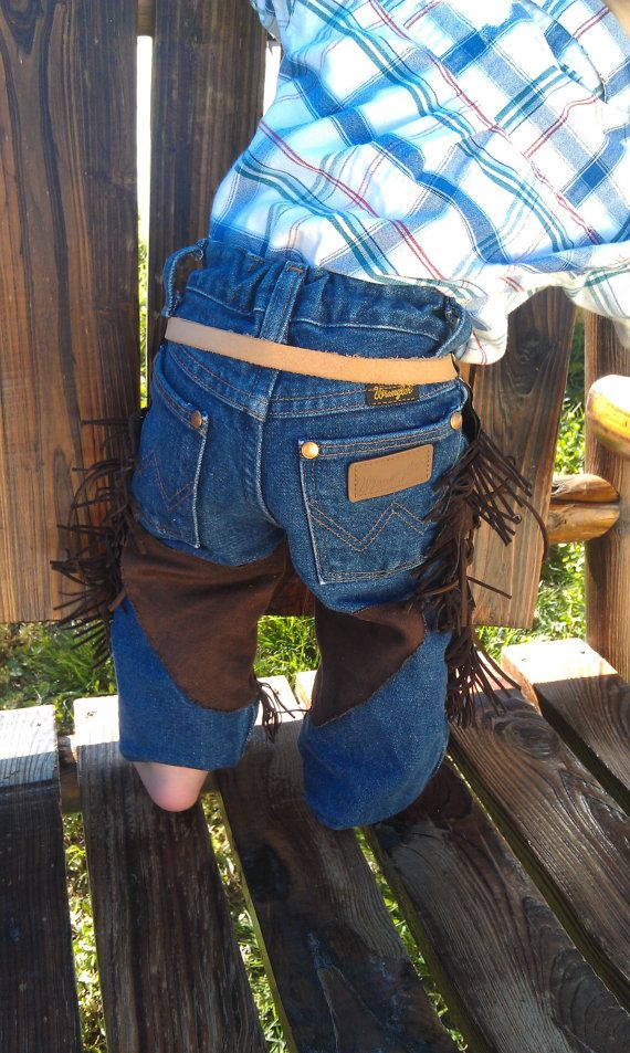 infant baby cowboy cowgirl chaps/ toddler by lilwesternworks, $25.00