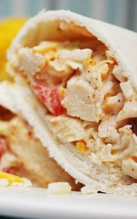 Southwest Chicken Wraps - this crunchy southwest - style chicken salad is such a yummy and fun weeknight meal!
