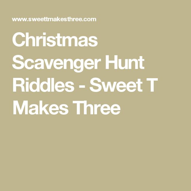 Christmas Gift Scavenger Hunt Riddles: 17 Best Images About Treasure Hunt Clues On Pinterest