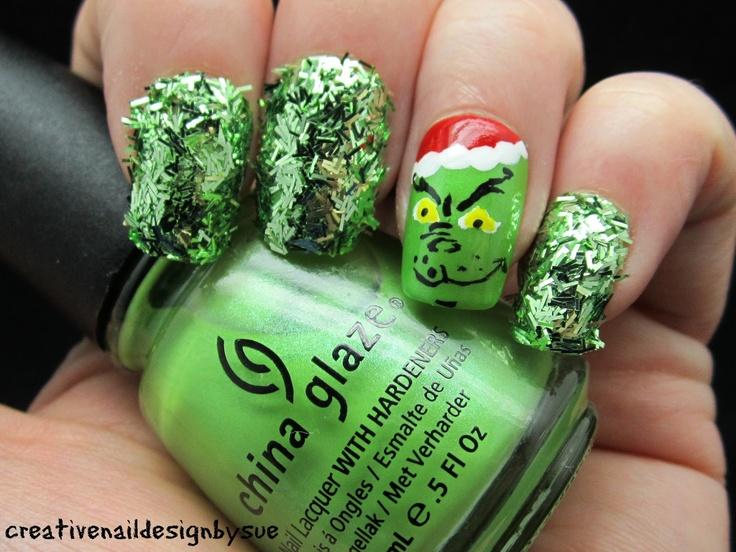 Magnífico Las Uñas Grinch Galería - Ideas de Pintar de Uñas ...